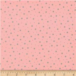 Kimberbell Little One Flannel Too! Flannel Random Dots Pink Gray