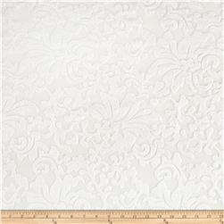 Flourish Stretch Mesh Lace White
