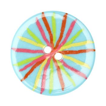 Fashion Button 1-3/8'' Confetti Sketch Turquoise