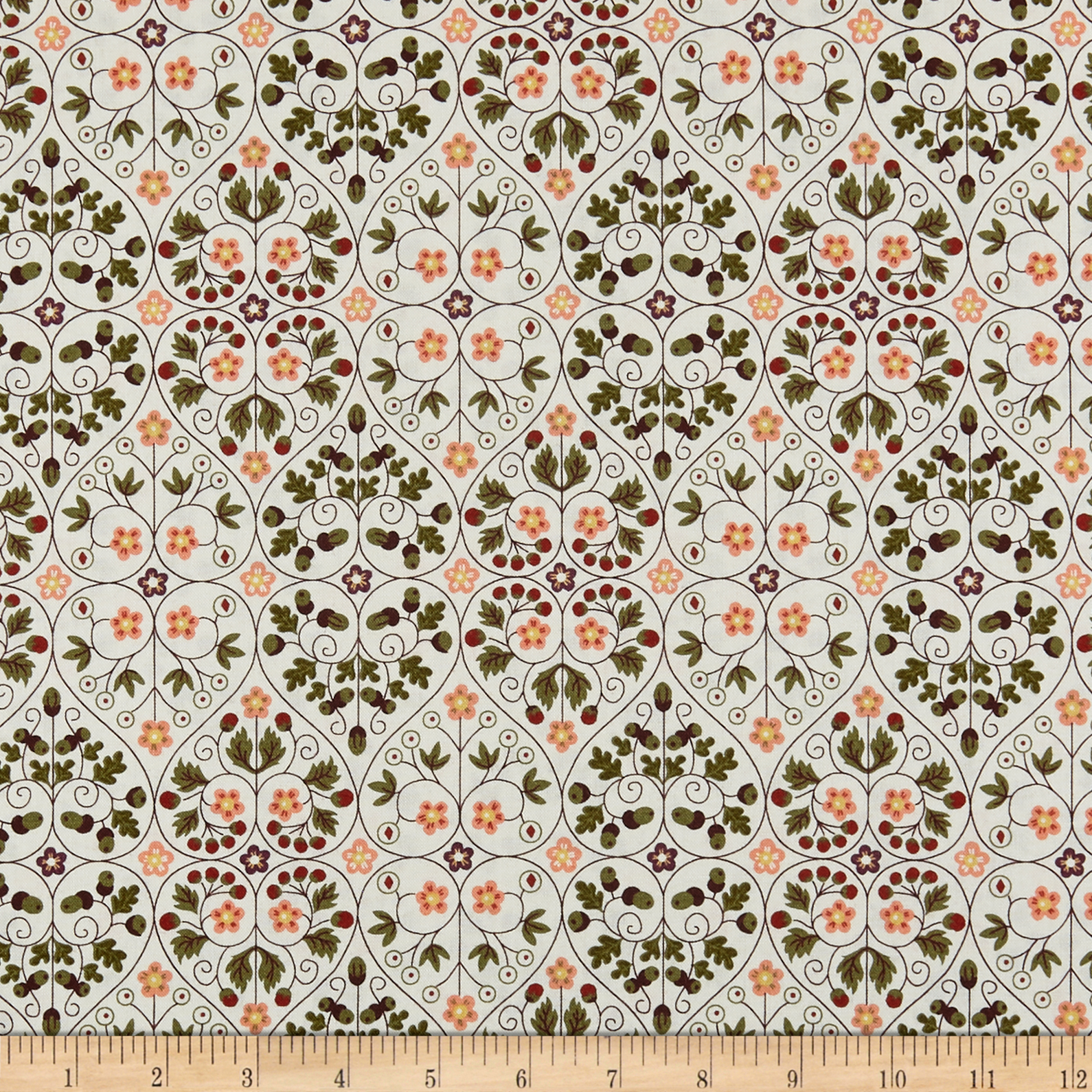 INOpets.com Anything for Pets Parents & Their Pets Liberty Of London Orchard Garden Garden Gates Natural/Peach Fabric