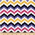 Let's Play Dolls Chevron Hot Pink/White
