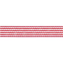"1/2"" Twill Tape Stripes Red/White"