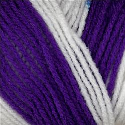 Red Heart Team Spirit Yarn (939) Purple/White