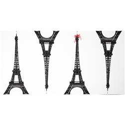Kokka Canvas Paris Panel Eiffel Tower Large White