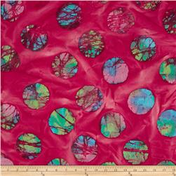 Indian Batiks Thunder Cloud Big Circle Red/Multi