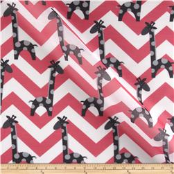 RCA Giraffe Chevron Sheers Black/Hot Pink