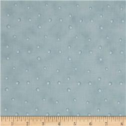 Silent Christmas Tossed Dots Blue