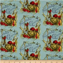 Vintage Seedpackets Toile Sky