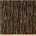 Bali Batiks Birch Trees Bison
