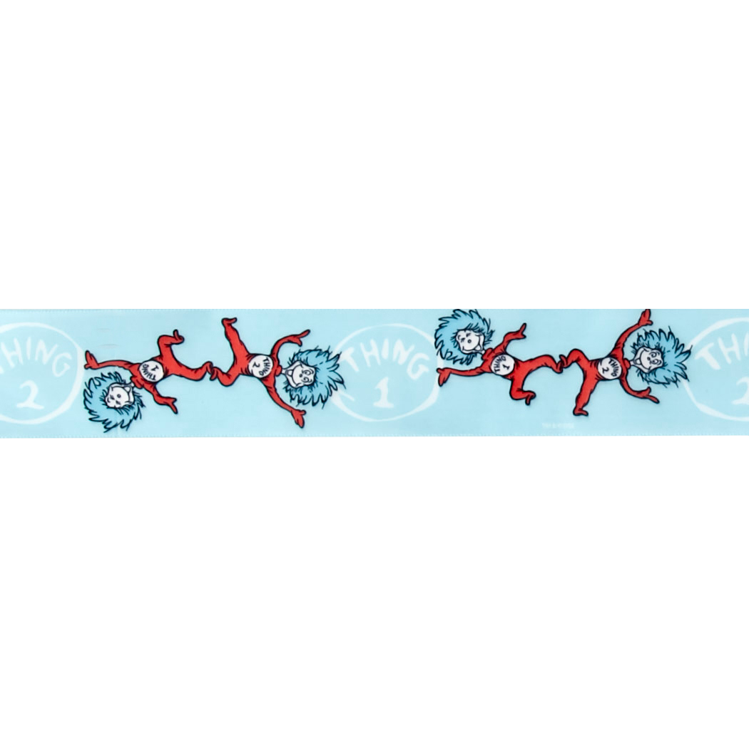 1 1/2'''' Dr. Seuss Thing One Thing Two Ribbon Blue