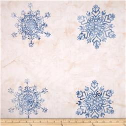 Bali Batiks Snowflake Panel Seasalt Fabric