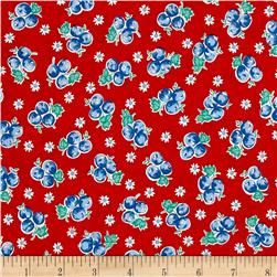Kaufman Birds of Liberty Berries Red