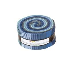 "Robert Kaufman Kona Solids Overcast 2.5"" Jelly Roll"