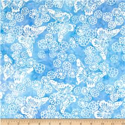 Michael Miller Batik Morning Butterflies Blue