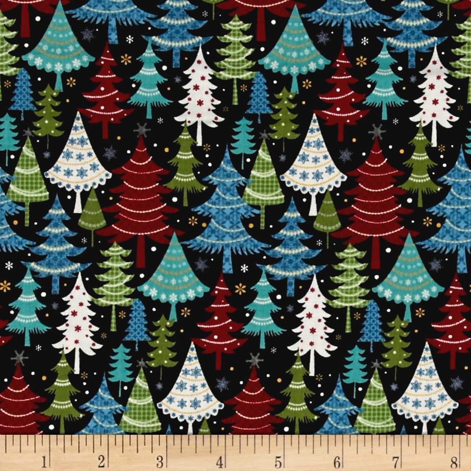 Jolly Penguin & Friends Festive Trees Black/Multi