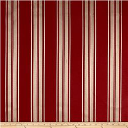 Drapery Sateen Red/Gold Stripe