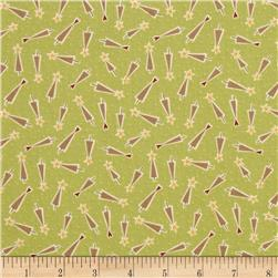 Hometown Holiday Tree Toss Green Fabric