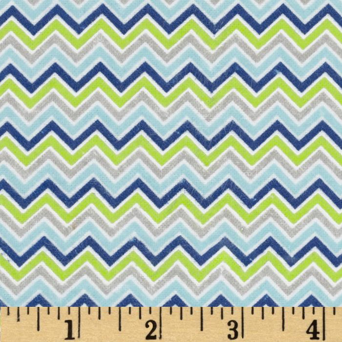 Alpine Flannel Basics Chevron Multi/Boy