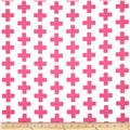 Kaufman Geo Pop Home Decor Canvas Tees Pink