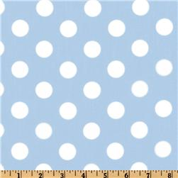 Forever Large Polka Dot Blue Fabric