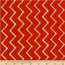 Novelty Crochet Lace Zig Zag Metallic Orange