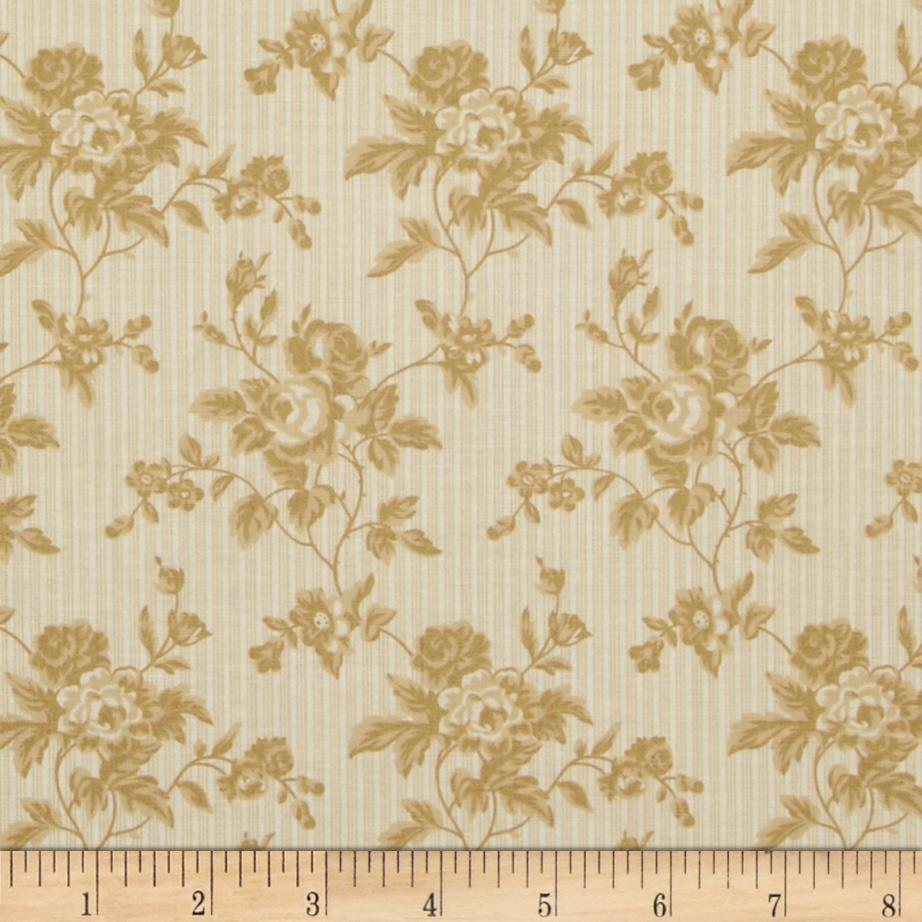Moda Midwinter Reds Chintz Floral Ivory