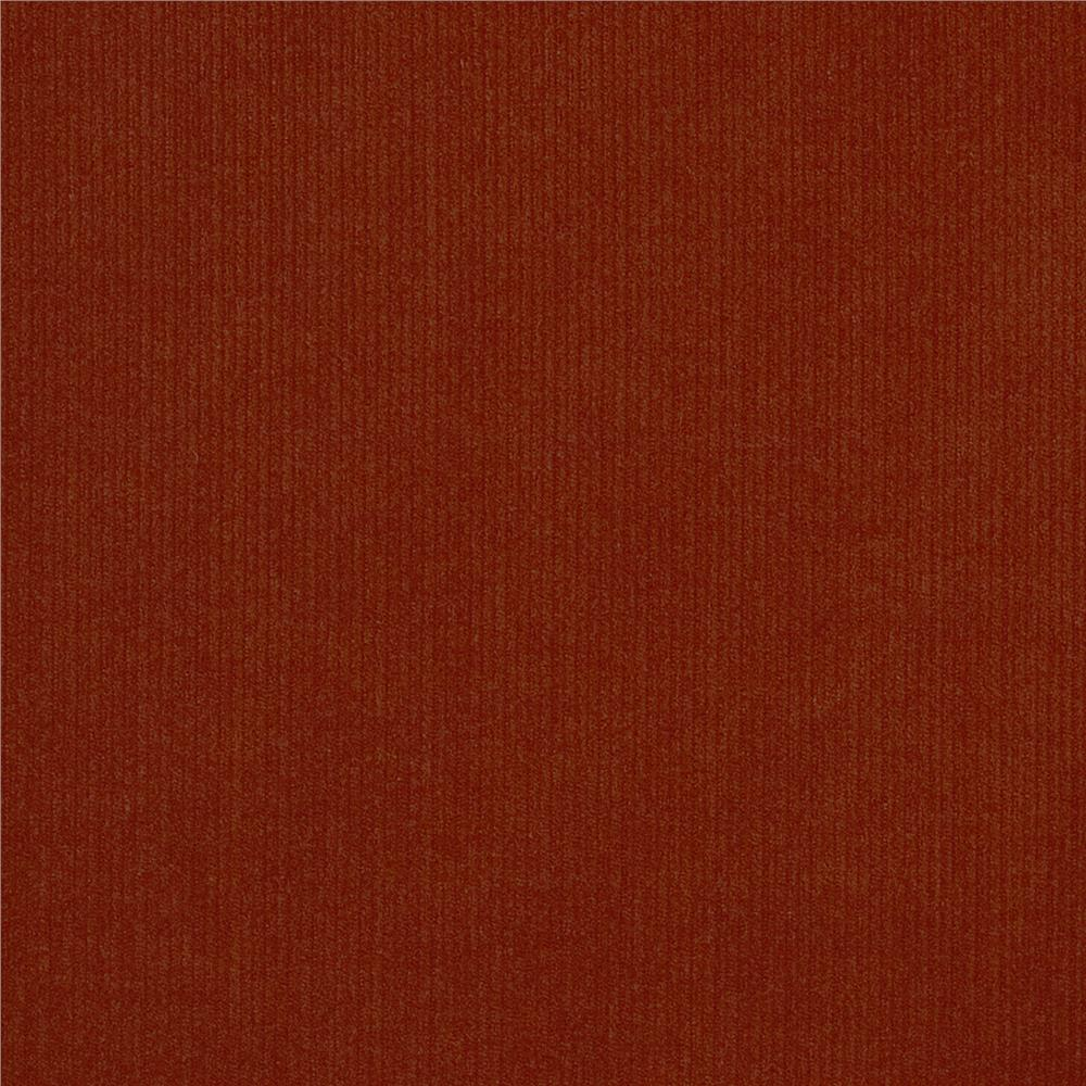 Kaufman 21 wale corduroy rust discount designer fabric for Corduroy fabric