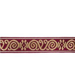 "Mount Vernon 2"" Ornament Trim Garnet"