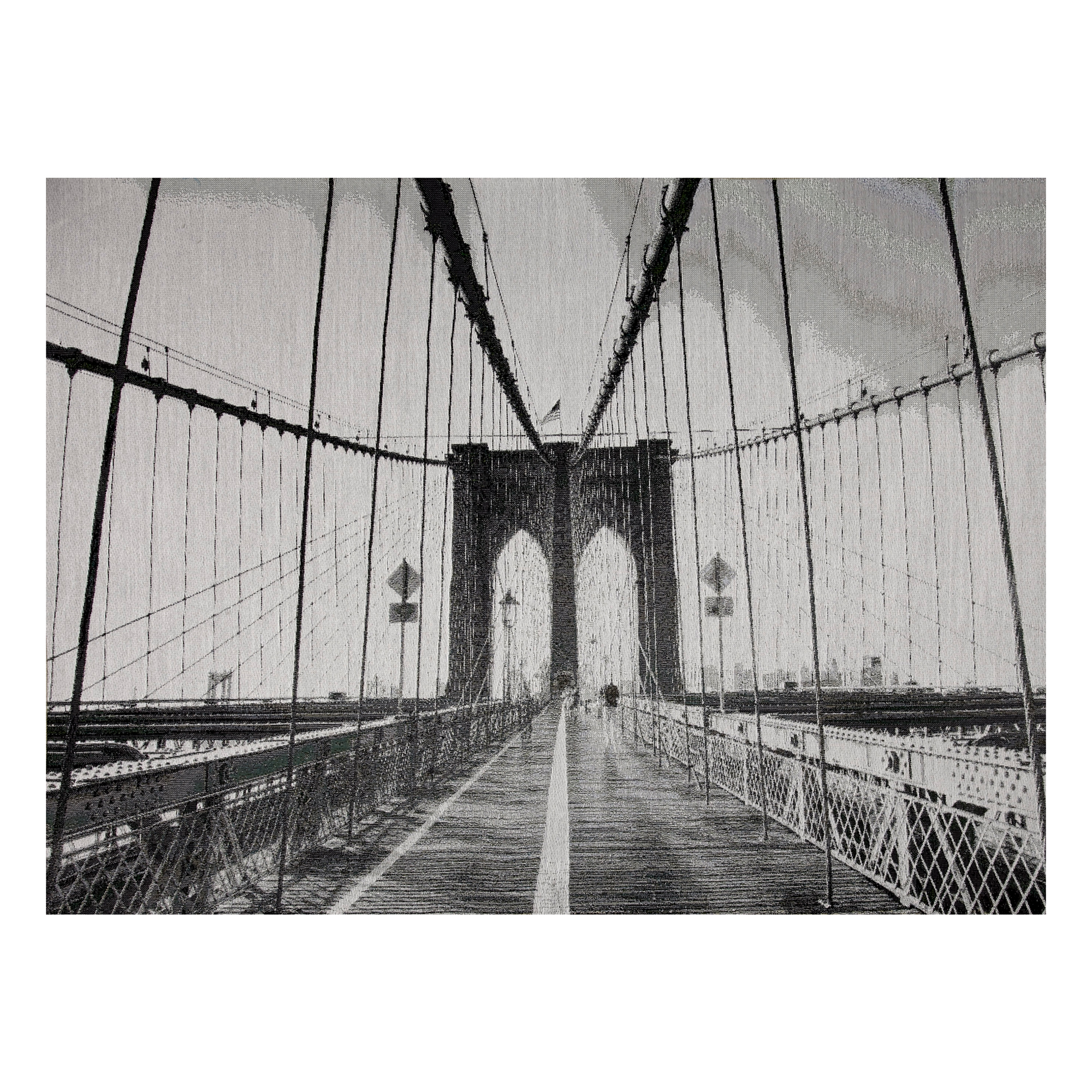 INOpets.com Anything for Pets Parents & Their Pets Photorealism Jacquard Wall Decor/Panel Brooklyn Bridge