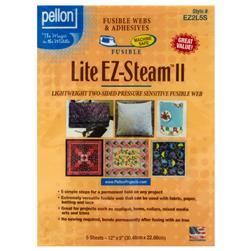 Lite EZ-Steam II Sheets Lightweight Two-Sided Stick Back Fusible Web