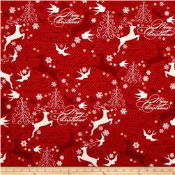 Sparkle Metallic Reindeer Red