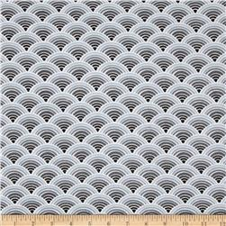 Comfy Flannel Scallops Grey