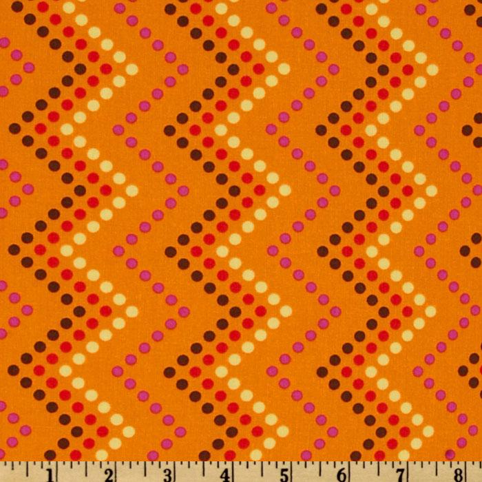 Michael Miller Heaven and HelsinkiZig Zag Dot Orange