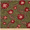 Moda Merriment Poinsetta & Holly Green