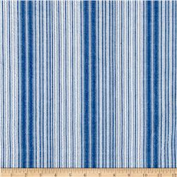 Cotton Seersucker Stripe Navy/White
