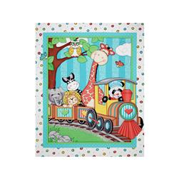 "Nursery Bazooples Choo Choo Quilt 36"" Panel Multi"