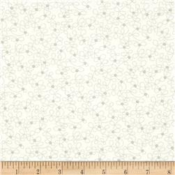 Moda Lily & Will Revisited Dotted Flowers Cream-Gray