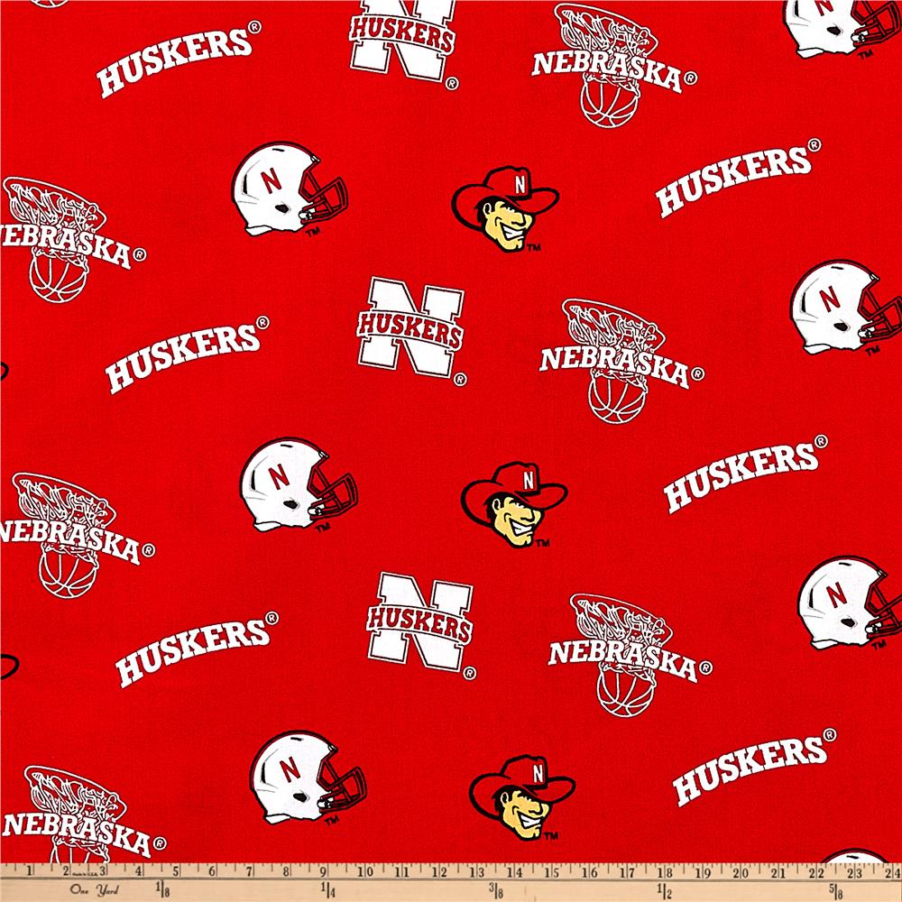 Collegiate Cotton Broadcloth University of Nebraska Red