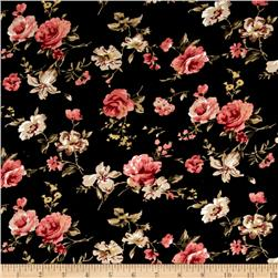 21 Wale Printed Corduroy Romantic Floral