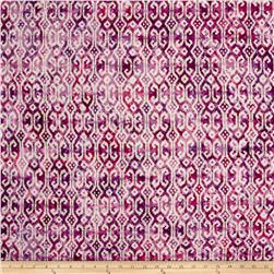Indian Batik Small Ikat Pink/Purple