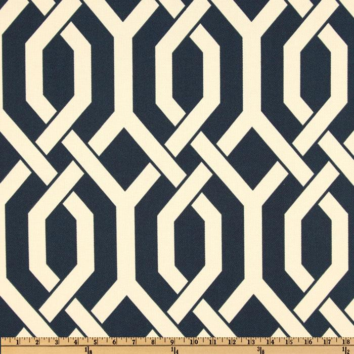 P Kaufmann Indoor/Outdoor Woven Slick Navy   Discount Designer Fabric    Fabric.com