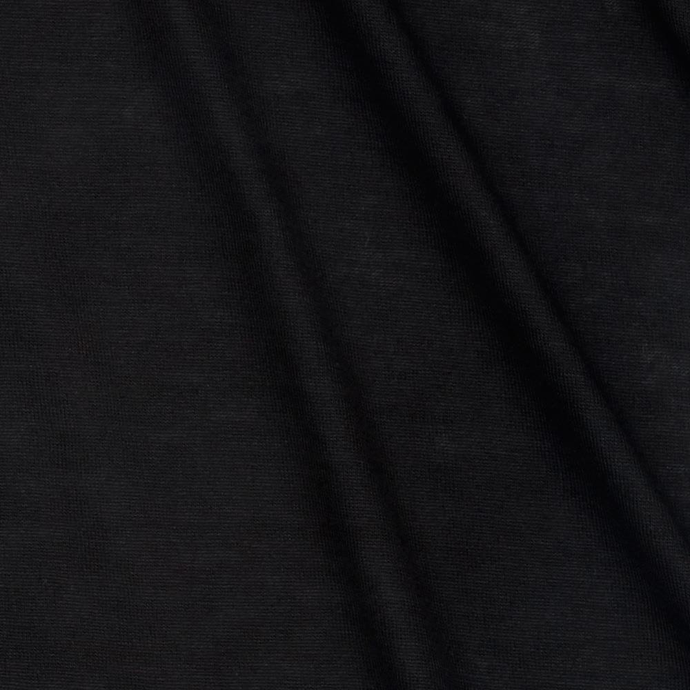 Lightweight Stretch Rayon Jersey Knit Black Pearl