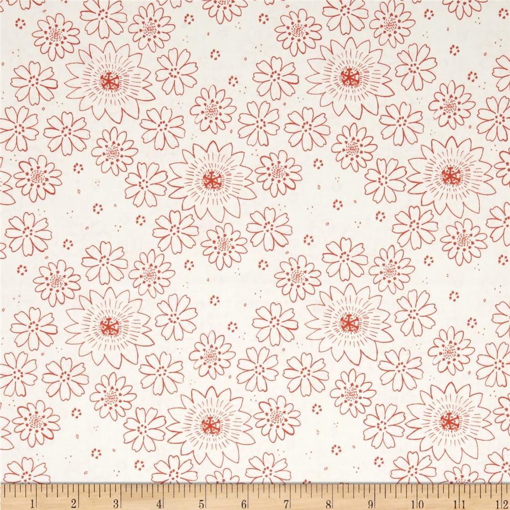Cotton & Steel Paper Bandana Posy Copper Fabric By The Yard