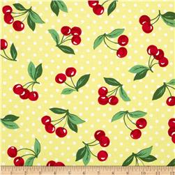Michael Miller Cherry Dot Yellow