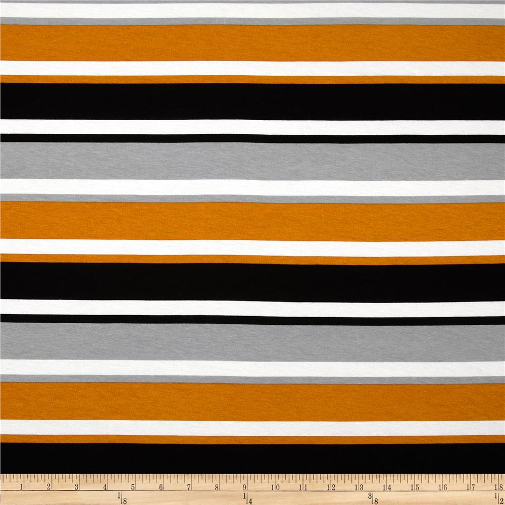Dakota Jersey Knit Stripes Grey/Orange
