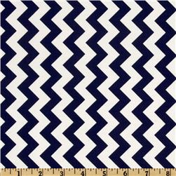 Riley Blake Chevron Small Navy Fabric