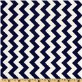 Riley Blake Chevron Small Navy