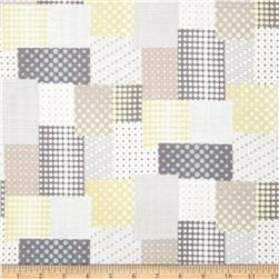Seven Islands Double Cotton Gauze Patchwork Yellow/Grey