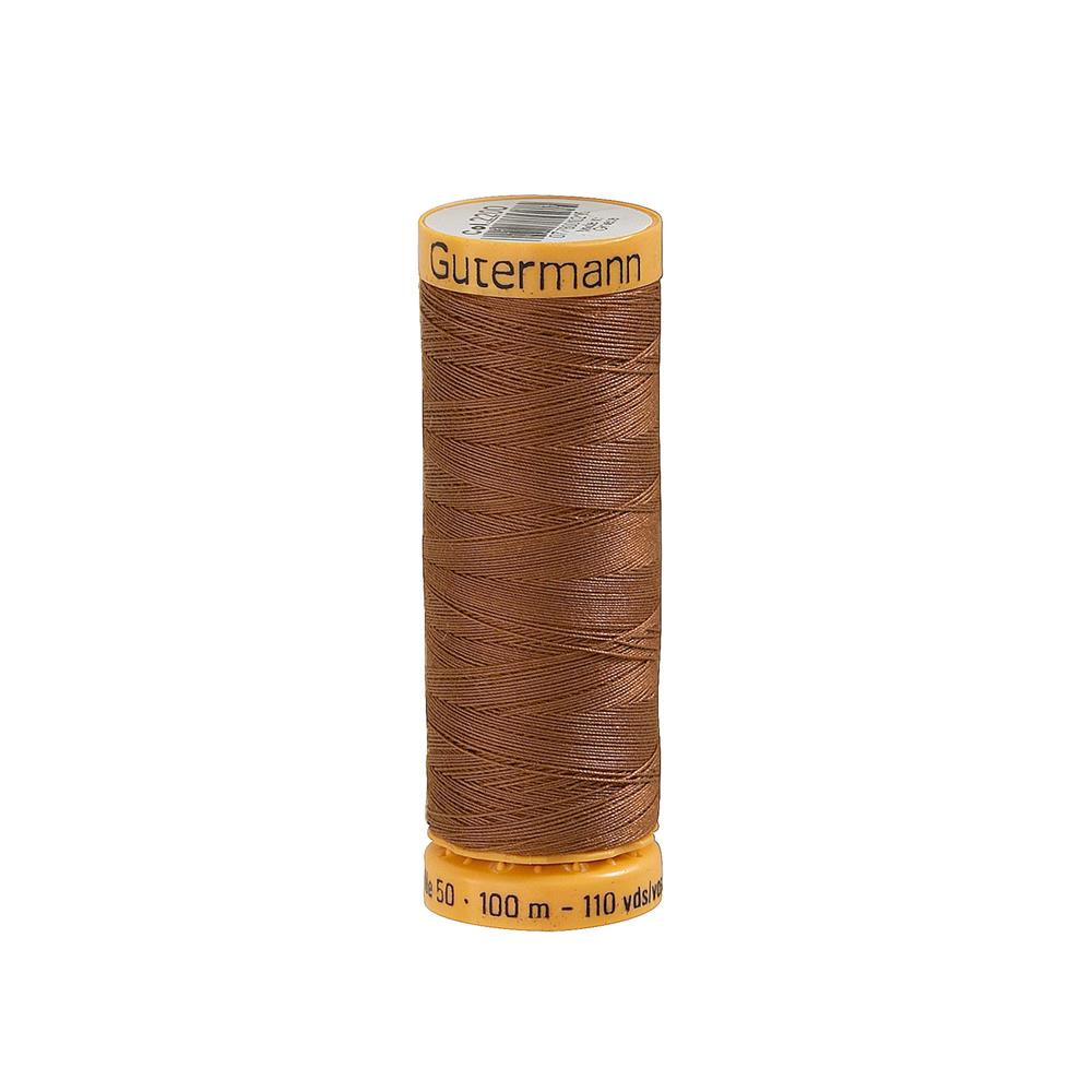 Gutermann Natural Cotton Thread 100m/109yds Dark Nutmeg