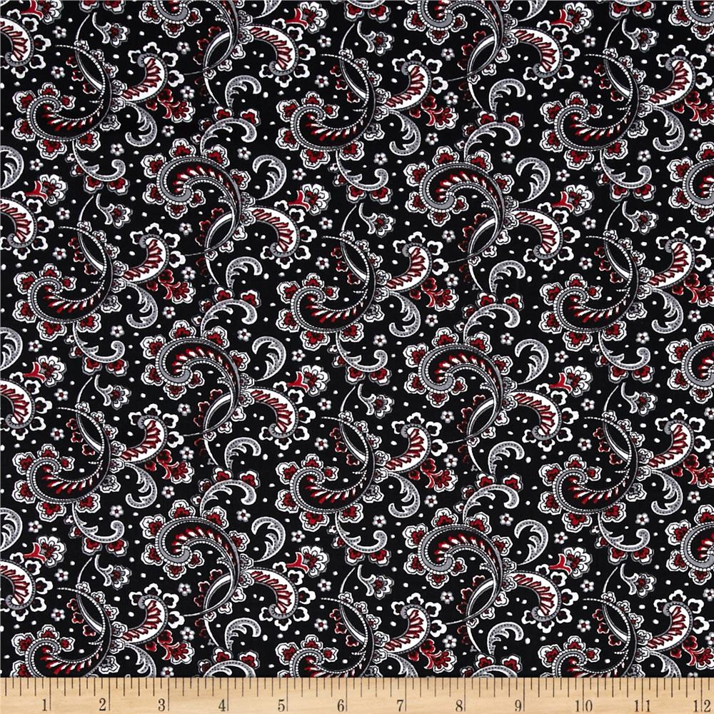 French Laundry Paisley Black